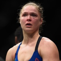 LAS VEGAS, NV - DECEMBER 30: Ronda Rousey reacts to her loss to Amanda Nunes of Brazil during the UFC 207 event at T-Mobile Arena on December 30, 2016 in Las Vegas, Nevada.  (Photo by Brandon Magnus/Zuffa LLC/Zuffa LLC via Getty Images)