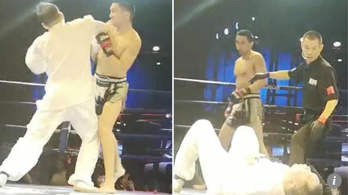 VIDEO. Un kickboxer chinez il face KO pe un maestru Tai Chi cu un singur pumn.