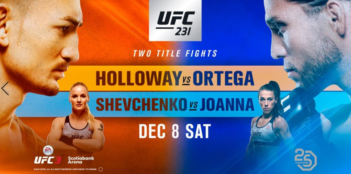 AVANCRONICA UFC 231: Max Holloway vs Brian Ortega si Valentina Shevchenko vs Joanna Jedrzejczyk (VIDEO)