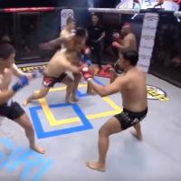 Intră să vezi cum arată o luptă de MMA de 3 la 3! Ce părere aveți despre acest sport?