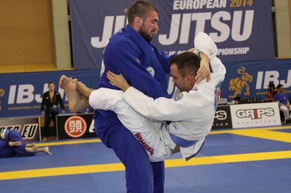 Horatiu Balint intr-un meci de la Europeanul de BJJ 2014