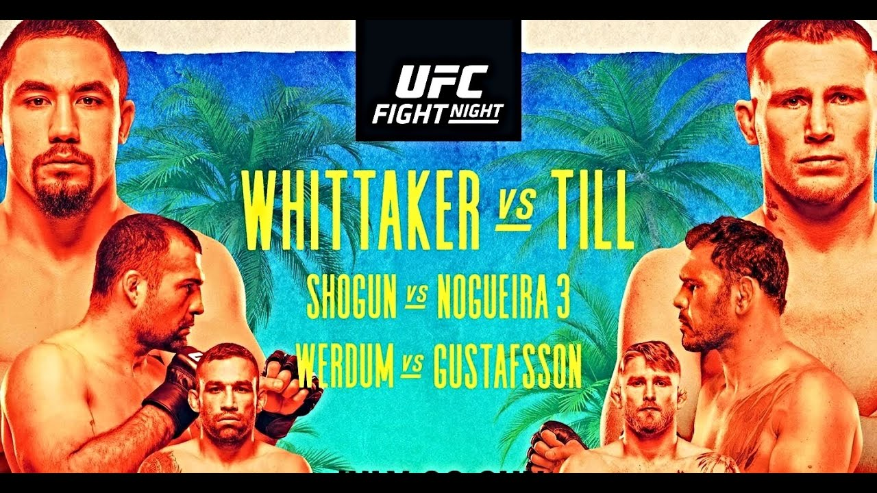 UFC Fight Night: Robert Whittaker vs Darren Till va avea loc in acest weekend!