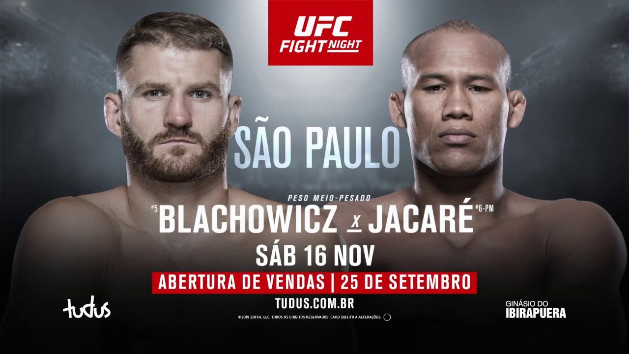UFC Sao Paolo: Ronaldo Jacare Souza debuteaza la Light-Heavyweight impotriva lui Jan Blachowicz