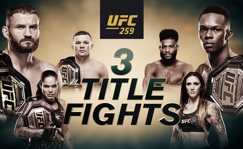 VIDEO. Vezi toate luptele ce vor avea loc la UFC 259. 4 campioni vor intra in octogon!